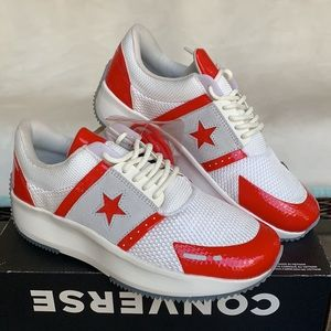 CONVERSE RUN STAR OX VINTAGE WHITE/RED WMNS